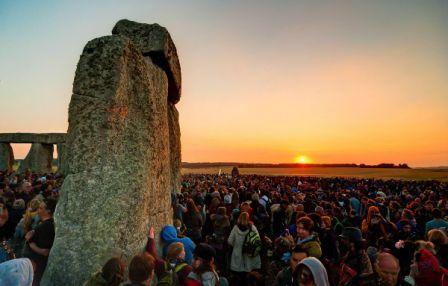 Solstício de verão em Stonehenge